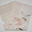 ドングリを食むリスの刺繍名古屋帯 帯裏