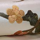白地に梅枝の名古屋帯 質感・風合