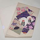 色紙文様刺繍の名古屋帯 帯裏