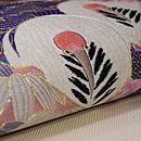 色紙文様刺繍の名古屋帯 質感・風合