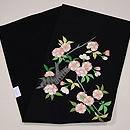 八重桜の刺繍名古屋帯 帯裏