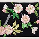 八重桜の刺繍名古屋帯 前柄
