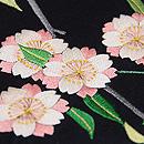 八重桜の刺繍名古屋帯 質感・風合
