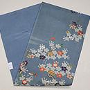 藍地山桜の図小袖くずし名古屋帯 帯裏