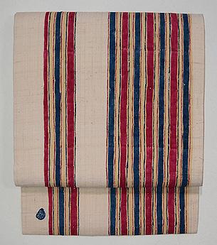 有平縞紬の名古屋帯