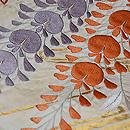 白地大輪藤の刺繍名古屋帯 質感・風合