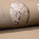 ワラビの刺繍名古屋帯 質感・風合