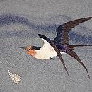 五月雨にツバメの刺繍名古屋帯 質感・風合