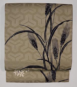 麦と菜の花の染め名古屋帯