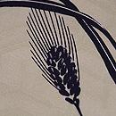 麦と菜の花の染め名古屋帯 質感・風合