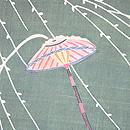 江戸裂柳に雨文様名古屋帯 質感・風合