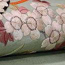 市女笠に桜の刺繍名古屋帯 質感・風合
