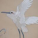 白鷺の刺繍名古屋帯 質感・風合