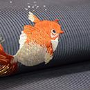 金魚の刺繍名古屋帯 質感・風合