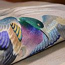 波に鴨刺繍の袋帯 質感・風合