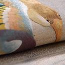 深山幽谷文様刺繍の袋帯 質感・風合