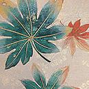 楓散らし刺繍名古屋帯 質感・風合