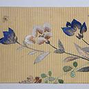 萩に白兎の刺繍名古屋帯 前柄