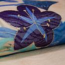 さつきに青い鳥の名古屋帯 質感・風合