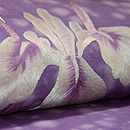 菖蒲の刺繍名古屋帯 質感・風合