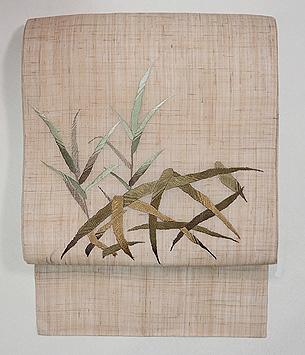 蛇籠の刺繍名古屋帯