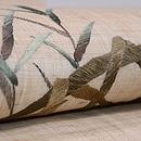 蛇籠の刺繍名古屋帯 質感・風合