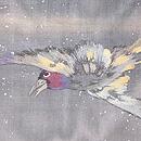 鴉刺繍の名古屋帯 質感・風合