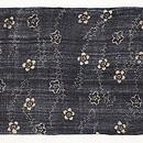 藍型芭蕉布の名古屋帯 前柄