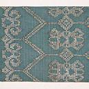 インドネシアモール織の名古屋帯 前柄