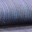 浦野理一作 藍縞縦節紬半巾帯 質感・風合