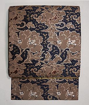 牡丹の織り名古屋帯