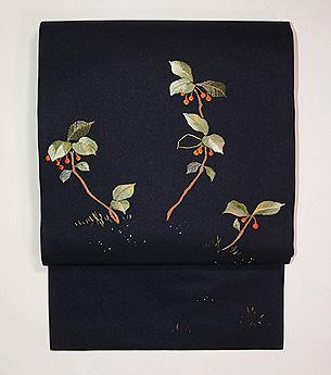 薮小路の刺繍名古屋帯