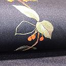 薮小路の刺繍名古屋帯 質感・風合