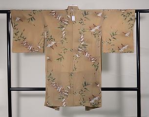 竹雀の染め羽織