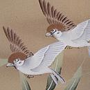 竹雀の染め羽織 質感・風合