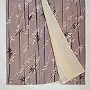 黒竹に桜の小紋 上前