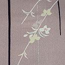 黒竹に桜の小紋 質感・風合
