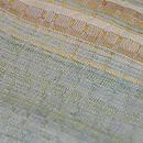 浮き織り緯縞文様紬袷 質感・風合
