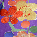 若草色に紫暈し四季の花文様訪問者 質感・風合