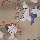 桜に青い鳥文様羽織 質感・風合