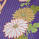 四季の花に文字文様訪問着 質感・風合