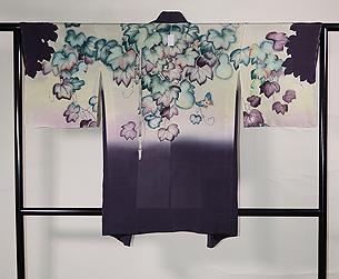 蔦に青紅葉の単衣羽織
