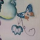 蔦に青紅葉の単衣羽織 質感・風合