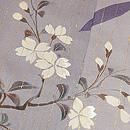 破れ七宝に枝垂れ桜の付下 質感・風合