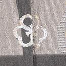 柳に流水と鯉の紋紗単衣羽織 背紋