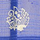 桔梗色ツバメの小紋単衣 背紋