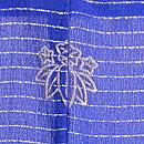 芝露にうちわ散らし文様単衣羽織 背紋