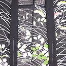 紋紗黒地に女郎花、撫子、萩の単衣羽織 質感・風合