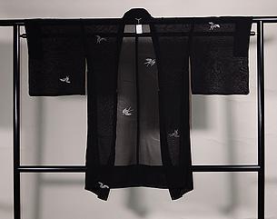銀色ツバメの紗羽織