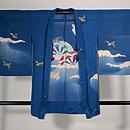 大波に片輪車と燕の単衣羽織 正面